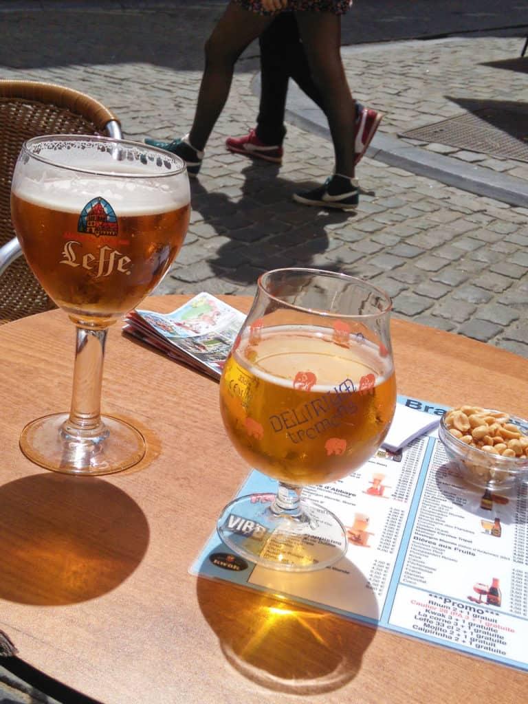 Brusel - piva Leffe a Delirium