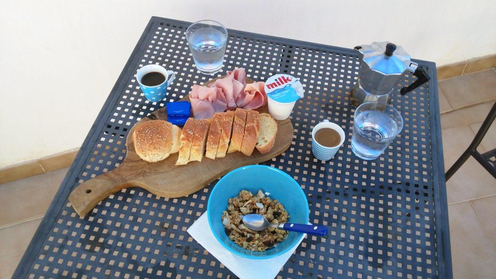 Trapani - italská snídaně
